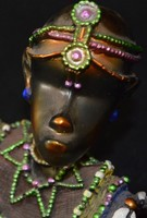 Kenyai ékszertartó, afrikai asztali dísz, kézműves alkotás