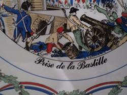 Porcelán - FRANCIA -  JELZETT  - forradalmi - emléktálca - 31 cm  gyönyörű - különleges -