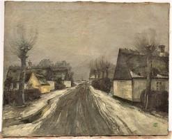 Jens Sinding Christensen Híres aukcionált Dán festő, festménye EREDETI GARANCIÁVAL !!! 80x65cm
