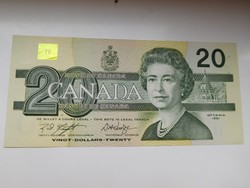 Kanada 20 dollár 1991 aUNC   Hajtatlan  /madaras/