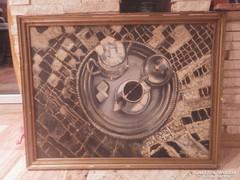 Szalay olaj-farost festmény