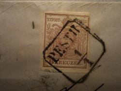 OPM  1850 6 kr.  levélen.