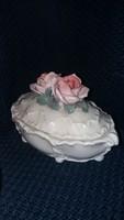 ENS Rózsa fogós bonbonier porcelán