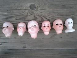 Antik porcelánfejű baba fejek
