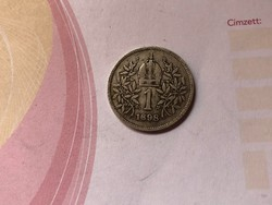 1898  ezüst 1 korona 5 gramm szép db