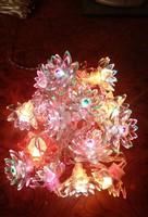 20 lótuszvirág füzér karácsonyi dekoráció