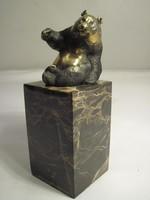 AKCIÓ  !Aranyos  Panda bronz szobor