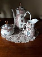 3 darabos teás-kávés kiöntő garnitúra
