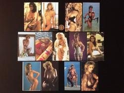 13 db Retró trafikáru erotikus akt kép Kártyanaptár képeslap