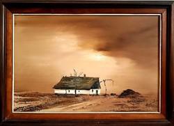 Szántó Lukács  - Vihar előtt olajfestmény
