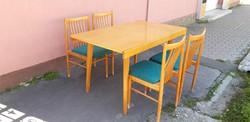 Retro mid century étkező asztal 4db székkel bővíthető