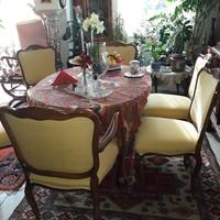 Warrings kinyitható étkezőasztal és 6 szék illetve karosszék