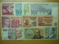 Régipénz gyűjtemény , 10 db külföldi