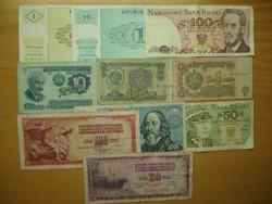 Régipénz gyűjtemény , 10 db külföldi ( 2. )