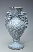 Extra ritka.! Korai körpecsétes Kántor Karcag Art Deco váza, 23cm