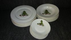 Ünnepi karácsonyi jelenetes 6 sz. étkészlet