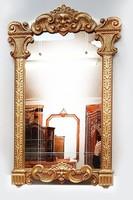 Díszes aranyozott tükör