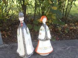 Aquincum juhász és neje porcelán szobor pár