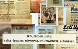 1962 november 7  /  PAJTÁS  /  SZÜLETÉSNAPRA RÉGI EREDETI ÚJSÁG Szs.:  6316