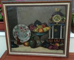 Balla Béla (1882-1965) - gyümölcsös csendélet Nagybánya EREDETI