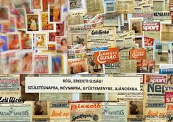 1966 január  /  CSALÁD és ISKOLA  /  SZÜLETÉSNAPRA RÉGI EREDETI ÚJSÁG Szs.:  6348