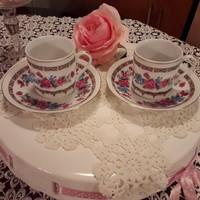 Két darab kis porcelán kávés csésze
