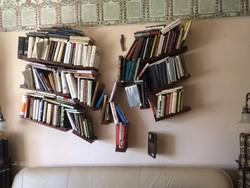 Egyedi, modern, különleges könyvespolc