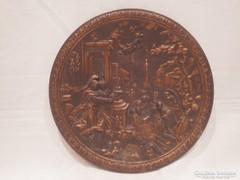 Antik bronz falitál