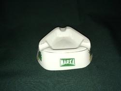 Retro Márka üdítőital reklám hollóházi porcelán hamutál
