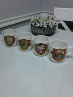 4 db Villeroy & Boch kávézó jelenetes bögrék