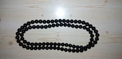 Antik fekete színű borostyán nyaklánc