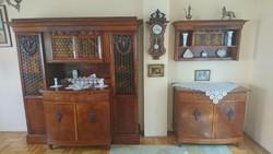 Antik tálaló szekrény garnitúra 100+ év