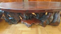 Dohányzóasztal kaliforniai mamutfenyő gyökeréből