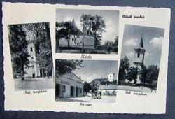 Régi képeslap Réde