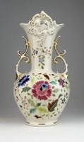 0T857 Antik Fischer jellegű porcelán díszváza 25cm