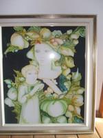 Markó Erzsébet  Anya gyermekével