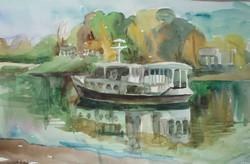 "Akvarell ""Dunai hajó"""