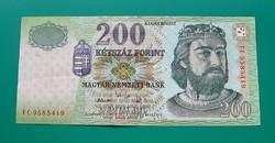"""2005-ös, 200 forint-os bankjegy - """"FC"""""""