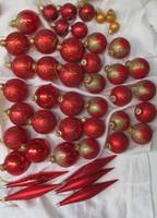 Karácsonyfadísz csomag üveg gömbök csepp forma egyben eladó