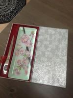 Régi japán kézzel festett tűzzománc szett
