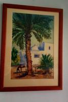 Cserna Károly akvarell