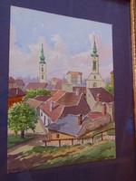 Balogh Margit (Mohács, 1898 - 1965, Budapest) : Tabáni részlet