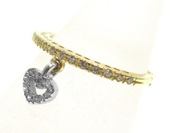 Arany-fehér arany női gyűrű ( Kecs-Au71510 )