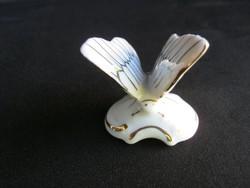 Royal Dux porcelán pillangó lepke