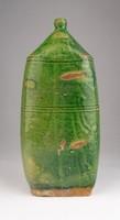 0T907 Antik vásárhelyi zöld butella butélia