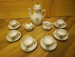 Herendi hecsedli, csipkebogyó mintás teás készlet