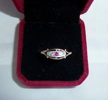 Antik 14k  gyűrű rubinnal