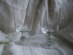 Régi talpas üvegpohár 2 db