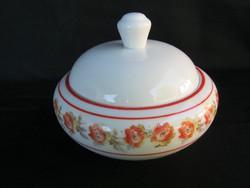 Drasche porcelán rózsás bonbonier cukortartó