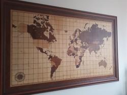 Intarzia föld térkép